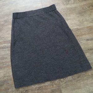 Anthropologie Wool High Waisted Skirt